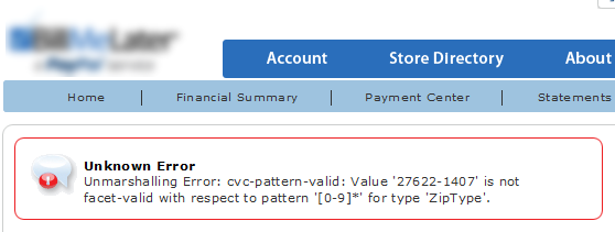 """Unmarshalling Error: cvc-pattern-valid: Value is not facet-valid with respect to pattern."